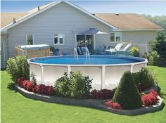 Landscaping Around Above Ground Pools Pool Design Ideas Pictures Like This Outdoor