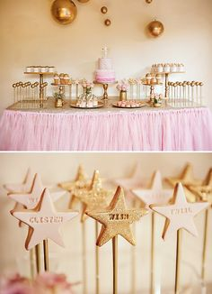 Pink and Gold Fairy Disco Party