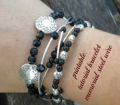 printable: tutorial bracelet memorial steel wire | tutoriales de bisuteria DIY