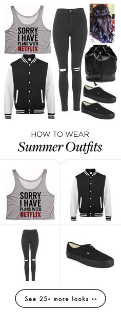 """Untitled #143"" by boxergirl57 on Polyvore featuring Topshop, Vans and Wet Seal"