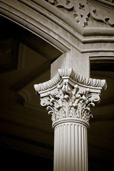 Indian Temple Architecture, Revival Architecture, Ancient Greek Architecture, Gothic Architecture, Classical Architecture, Architecture Details, Roman Columns, Stone Columns, Column Capital