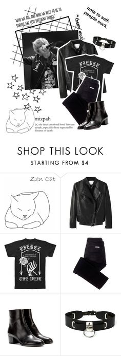 """☂People suck☂"" by kamagaem ❤ liked on Polyvore featuring Populaire, 3.1 Phillip Lim, sass & bide, Dries Van Noten and Zana Bayne"