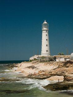 Lighthouse at Olenevka - Ukraine