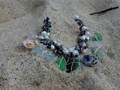 Checkout this amazing product Sea Glass and Shells from the west side of Oahu, Hawaii  Also in this necklace freshwater pearls at Shopintoit