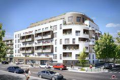 Illustration 3D de logement à Asnières pour Cibex promotion