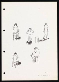"""Helena Almeida nascida em 1934,a obra da-se pelo título """"desenho com pigmento"""",é uma obra de 1995-9. Tinta e pastel no papel,possui as seguintes dimensões 294 x 208 mm e a coleção Tate foi adquirida com recursos fornecidos pelo Fundo Art Fair 2011 Outset para beneficiar a Coleção Tate 2012,o corpo,a figura humana é o elemento nuclear para entender a sua obra."""