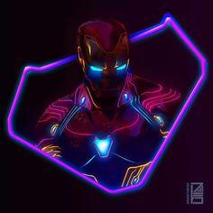 Ironman:Marvel Neon Potraits Painting