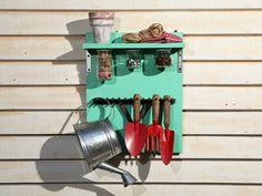 Manualidades y Artesanías | Rastrillo como organizador de herramientas | Utilisima.com