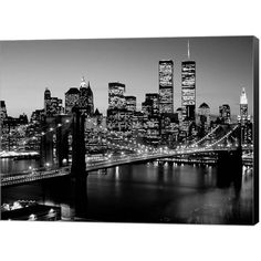Metaverse Art Brooklyn Bridge NYC Canvas Wall Art ($144) ❤ liked on Polyvore featuring home, home decor, wall art, multicolor, cityscape wall art, new york city wall art, nyc skyline wall art, horizontal wall art and brooklyn bridge wall art