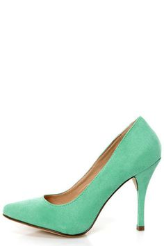 Holly 41 Mint Pointed Pumps at Lulus.com!