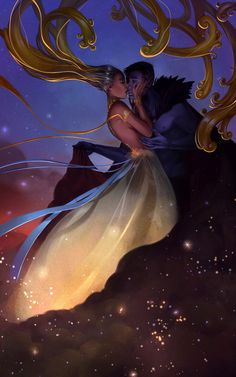 :iconalicechan:  The Sun and Stars by Alicechan  Digital Art / Drawings & Paintings / Fantasy©2015 Alicechan  #stars #sun      Little romantic fluff piece. lol Wanted to depict the sun being enveloped by the night sky.