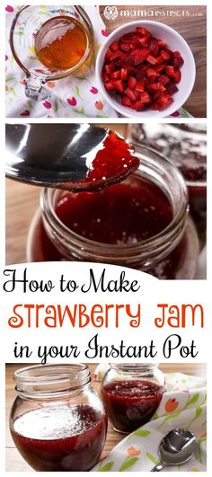 Make jams in your Instant Pot in just a few minutes and with just two ingredients! Try this instant pot strawberry jam everyone will love.