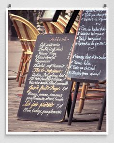 Paris photography  Menu du matin  Paris cafeParis by coloron