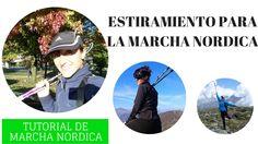 Ejercicios de estiramiento stretching despuès de hacer entrenamiento de Marcha Nordica (Nordic Walking, Urban Walking, Caminata con Bastones). Rutina estiram...