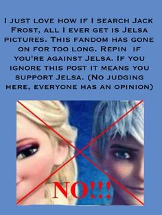 Spread the word. Anti Jelsa! Finally someone made a pin in this!