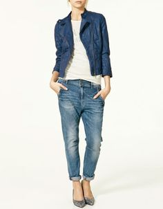 royal blue leather jacket from Zara super cute and casual