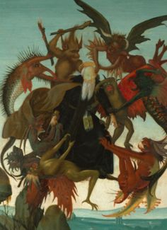 The Torment of Saint Anthony by Michelangelo Wall Art For Sale, Art Prints For Sale, Paintings For Sale, Most Famous Paintings, Famous Artists, Great Artists, Stretched Canvas Prints, Canvas Art Prints, Michelangelo Paintings