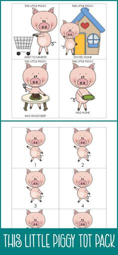 This Little Piggy Went to Market - Song for Children, Play Nursery ...