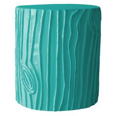 Stray Dog Designs Stump Bahaman Sea Blue Stool/Accent Table SDD12CSSBSB