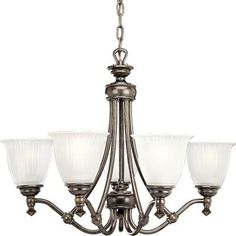 Progress Lighting Renovations Collection 5-Light Forged Bronze Chandelier-P4115-77 - The Home Depot