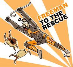 FREEMAN TO TEH RESCUE by ~rowleen on deviantART