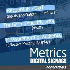 The most important thing that digital signage can offer and that benefits any company or organization is the generation of data such as: what contents sees the audience with greater interest how many visitors had in a day the establishment or how many people entered and left the same  Are among the many data you can get through a Digital Signaling circuit. For more information contact us via email at info@imvinet.com or visit our website www.imvinet.com #digitalboards  #digital…