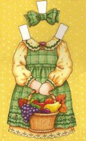 """Thanksgiving Frock 10"""" outfit  -1997 Tonner Mary Engelbreit Comparison Guide"""