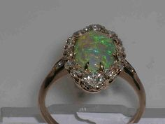 Antique Opal Engagement Rings | Antique vintage opal wedding ring