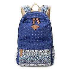 Korean Canvas Printing Backpack Women School Bags for Teenage Girls
