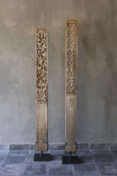 Carved door frame pillars