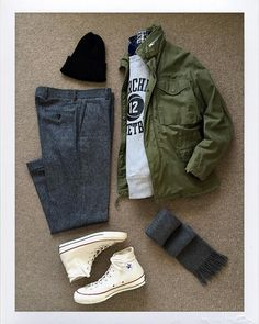 3390fa6c2ab Today s Outfit. 60 s U.S.Army  M65 Field Jacket 80 s  Champion Reverse Weave  Sweat