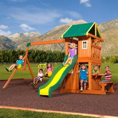 a343409aa3a96 Cedar Summit Spring Valley Deluxe Playset - Do It Yourself ...