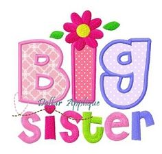 Big Sister Flower Applique - 3 Sizes! | What's New | Machine Embroidery Designs | SWAKembroidery.com Dollar Applique