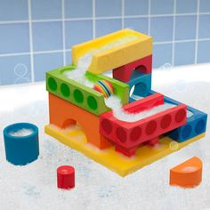 Amazon.com: BathBlocks Big Blocks Water Fall Set, 15-Piece: Toys & Games