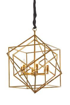 最灯饰现代美式拉丝钛金铜色简约吊灯