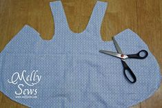 Sewing Baby Girl Criss Cross Dress Tutorial (aka the easiest dress ever) with Free Pattern! - Melly Sews - Easy to sew Criss-Cross Dress with free pattern. Adorable and a great first sewing project. Kids Patterns, Sewing Patterns Free, Free Sewing, Sewing Hacks, Sewing Tutorials, Sewing Crafts, Baby Dress Tutorials, Sewing Ideas, Baby Pattern