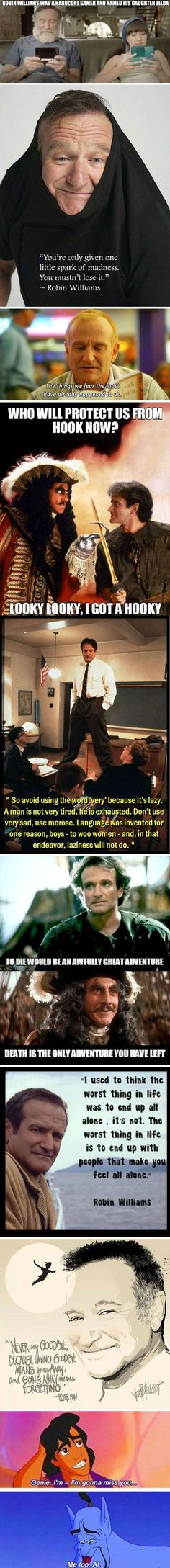 I'm sobbing because this man made a huge impact on my life and so many others, Rest In Peace Robin Williams