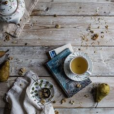#tea #composition #teatime #foodphotography #photography Coffee And Books, Tea Recipes, Tea Ceremony, My Cup Of Tea, Tea Time, Coffee Time, Morning Coffee, Afternoon Tea, Chocolate