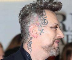 909a704b1b67d Boy George Tattoo List - Inkedceleb Body Tattoos, Full Body Tattoo, Boy  George,
