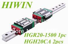 NEW HIWIN linear guide HGR20 L1500mm and 2pcs HGH20CA cnc rail block linear block CNC parts //Price: $148.09//     #Gadget