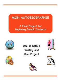 Provide your beginning French students with a well-structured way to write (and present) a simple autobiography.