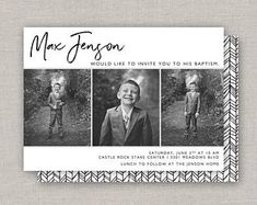Custom Cards & Party Printables by announcingyou on Etsy Lds, Baptism Invitations, Overnight Shipping, Custom Cards, Party Printables, Menu, Digital, Drop, Prints