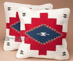 Southwestern Pair of Pillow Covers 18x18 -Coconino Pattern