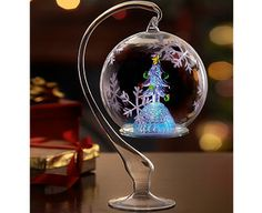 Image for Colour-changing LED Ornamental Glass Bauble from The Original Gift Company
