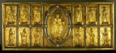 antependium de l'abbé Hertwig, 1140, filigranes, pierres précieuses, abbatiale Comburg,
