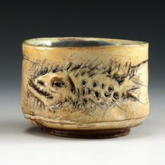 ron mayers - fish fossil pottery