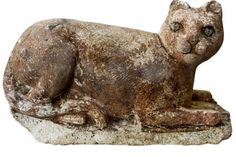 One of 600 Bastet statues excavated from a 2,200 year old temple in Alexandria.
