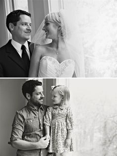 Moving without Mom – Father and Daughter recreate old Wedding Photos to say Goodbye to Wife and Mother