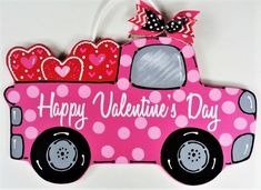 Excited to share the latest addition to my shop: Happy Valentine's Day VINTAGE TRUCK Sign w/Polka Dots Wall Door Hanger Hanging Wall Art Plaque Handcrafted Hand Painted Country Wood Craft Valentine Day Wreaths, Valentine Decorations, Valentine Crafts, Happy Valentines Day, Valentine Ideas, Vintage Valentines, Valentines Wallpaper Iphone, Polka Dot Walls, Polka Dots
