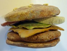 Build A Better Burger- stack after glazing and pieces will bond together! Love this idea